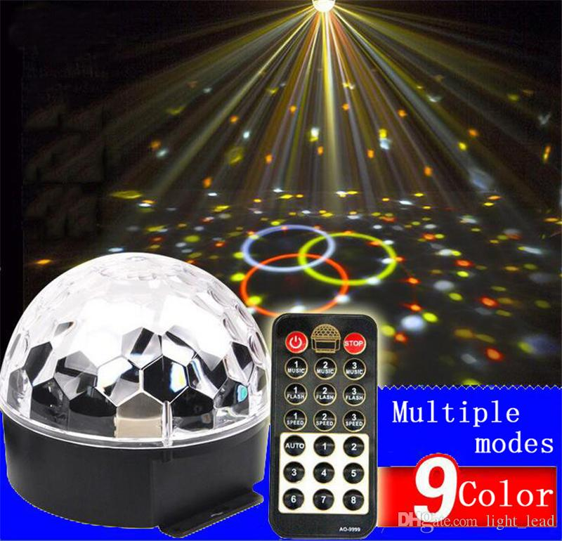 DJ Lights LED Sound Activated Party Light Rotating Laser Projector Lamp DMX Control Crystal Magic Ball Disco Light Strobe