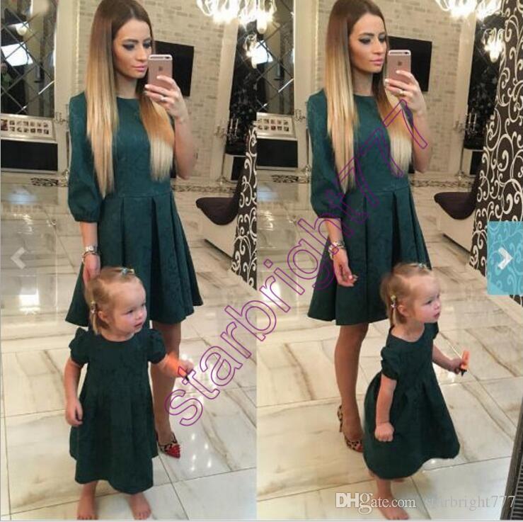 Vestiti Eleganti Mamma E Figlia.Acquista La Madre Di Autunno Della Primavera Copre Gli Abiti Che