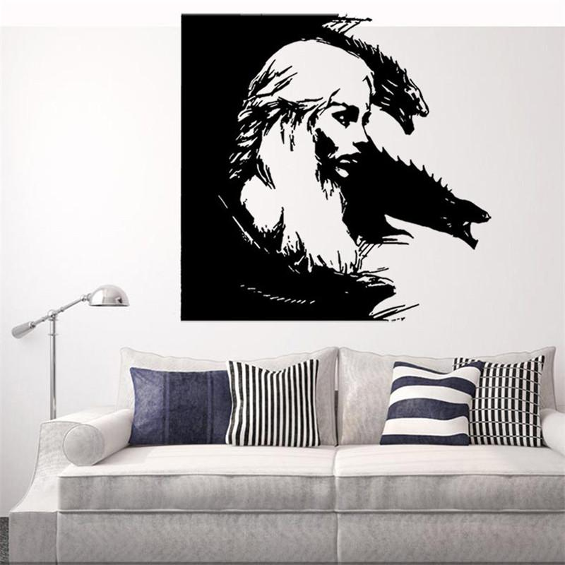 Dragon Mother Design Graphic Vinyl Wall Sticker Of Daenerys - Custom vinyl wall decals dragon