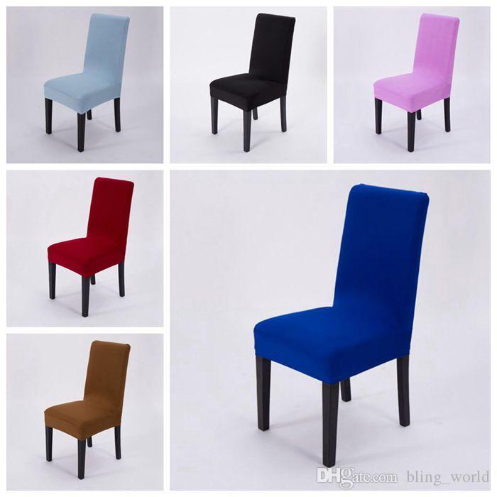 Grosshandel Stuhlhussen Reine Farbe Elastische Stuhl Sitzschonbezug