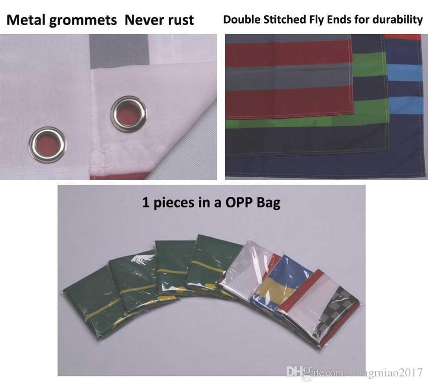 3x5 Pies Bandera y pancarta personalizados Cualquier logotipo Cualquier color 100D Poliéster Impresión digital con cubierta de eje Ojales