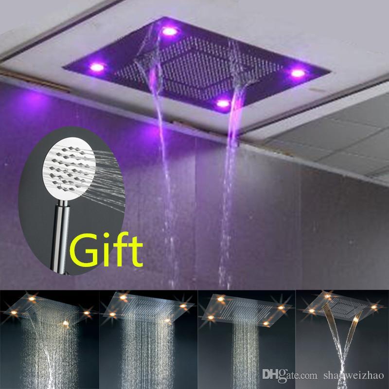 Luxury Bathroom Large Ceiling Light Mm Waterfall - Bathroom shower ceiling light fixtures