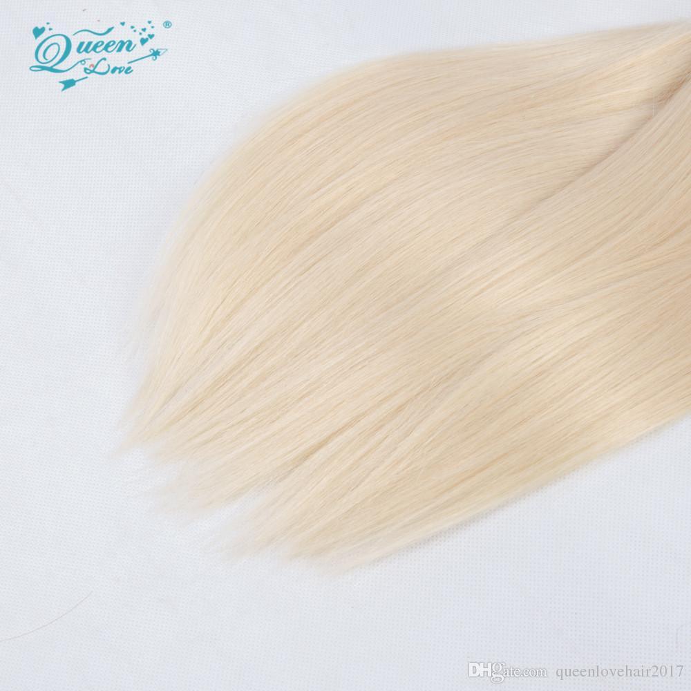 613 Sarışın Bakire Saç Uzantıları Kraliçe Aşk Sarışın Saç Demetleri 613 brezilyalı Düz 1 Parça Insan Bakire Saç Örgü 18