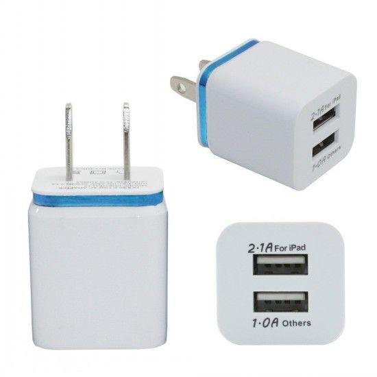 금속 듀얼 USB US 플러그 1A AC 전원 어댑터 벽 충전기 2 포트 삼성 갤럭시 참고 LG 태블릿 iPad