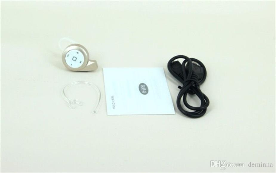 Con la venta al por menor Box Mini A8 auriculares estéreo bluetooth auriculares auriculares mini V4.0 inalámbrico para iPhone Samsung tablet Alta calidad