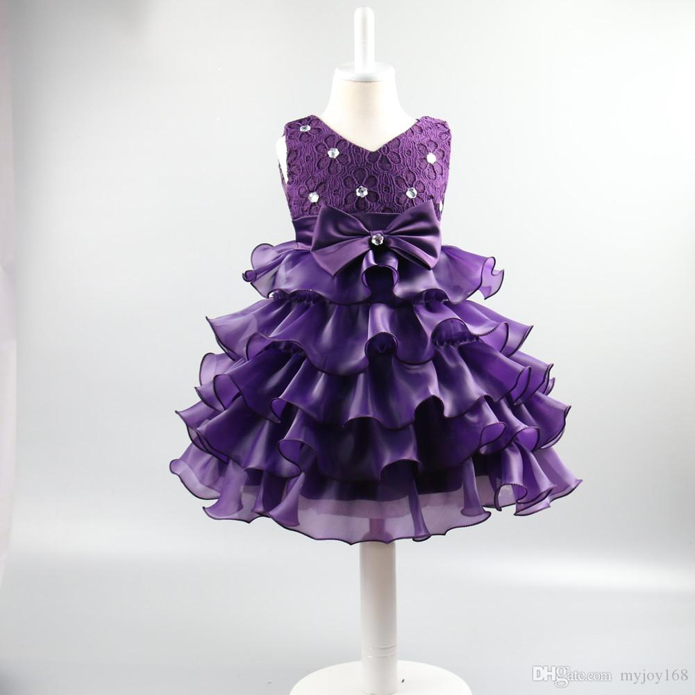 2017 Baby Girl Party Dress Children Frocks Designs Wedding Party