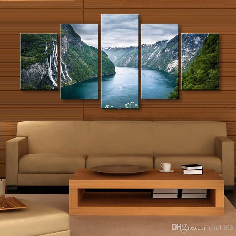 5 stücke high-definition druck wolken landschaft leinwand ölgemälde poster und wandkunst wohnzimmer bild PL5-208