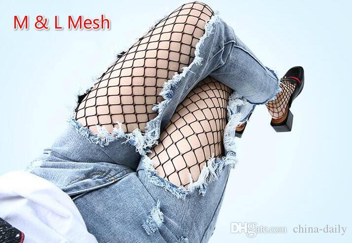 Navio livre 10 Pares 5 modelos Moda Feminina Jeans Fishnet Meias Meias De Malha Feminina Net Joelho Meias Meias Altas