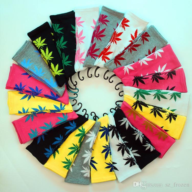 Рождество plantlife носки для мужчин женщин высокое качество хлопчатобумажные носки скейтборд хип-хоп кленовый лист спортивные носки Оптовая бесплатная доставка Fedex