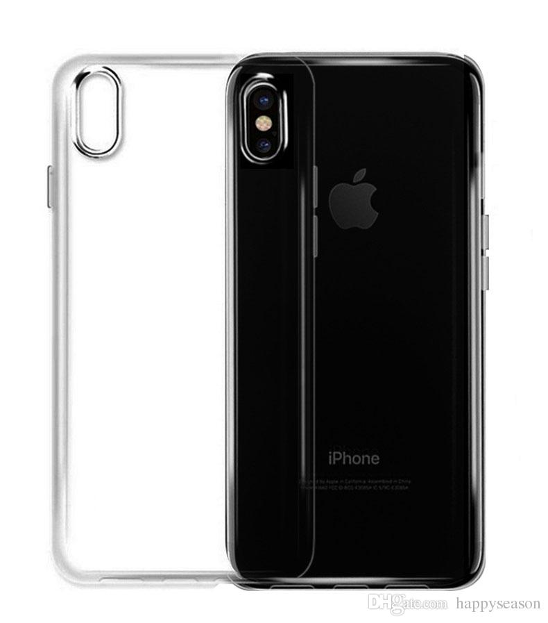 size 40 6bb07 6f309 Ultra Slim Soft TPU Silicone Clear Case for iPhone XS Max XR/8/7/6s/6/5/4  Plus Back Cover Shell Shockproof