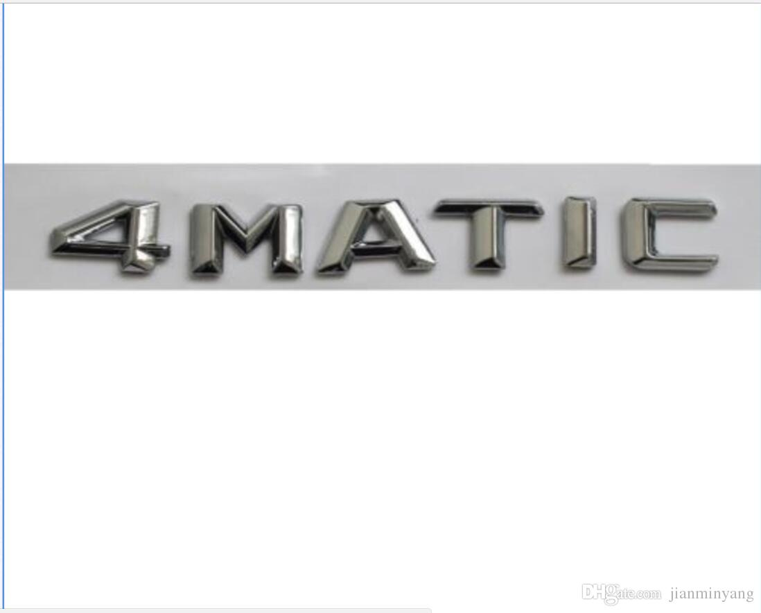 Chrome ABS Number Letters Trunk Emblem Badge Sticker for Mercedes Benz 4MATIC