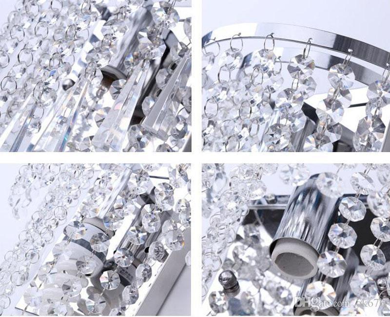 Moderno Semi Circular Luces de Pared de Cristal Lámparas de Araña Hogar Dormitorio Dormitorio Sala de estar Lámpara de Pared de Cristal Pasillo Escalera Led Bombilla Luz