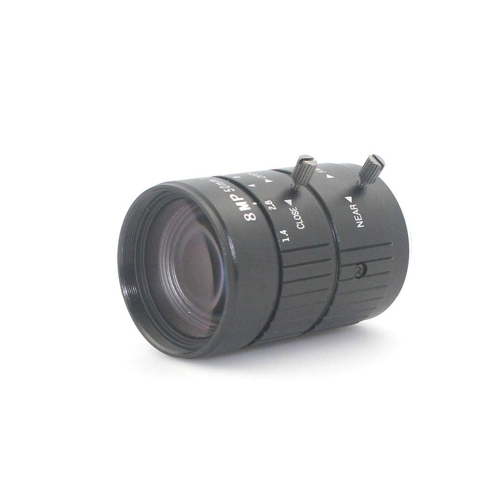 F1.2 4K 8MP 50mm Manual ITS Road Traffic Surveillance CCTV Lens C Mount for 5MP 6MP 8 Megapixel HD Box Body Camera