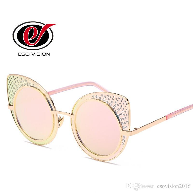 4ba285a895 Cat Eye Sunglasses for Woman Fashion Women s Pink Sunglasses Brand Designer  Gold Oversized Mirror Sunglasses for Sale China Cat Eye Sunglasses Oversize  ...