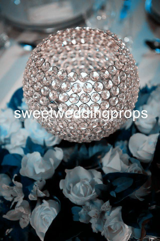 new crystal beaded candle holder gold/sliver votive candle holder wholesale
