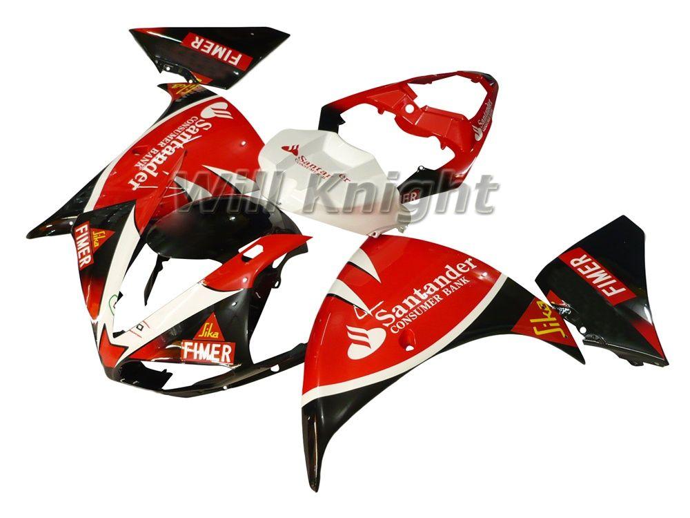 Kit telaio completo carena stampo iniezione YZF1000 YZF R1 09 10 Kit kit completo stampaggio a iniezione ABS bianco rosso nero