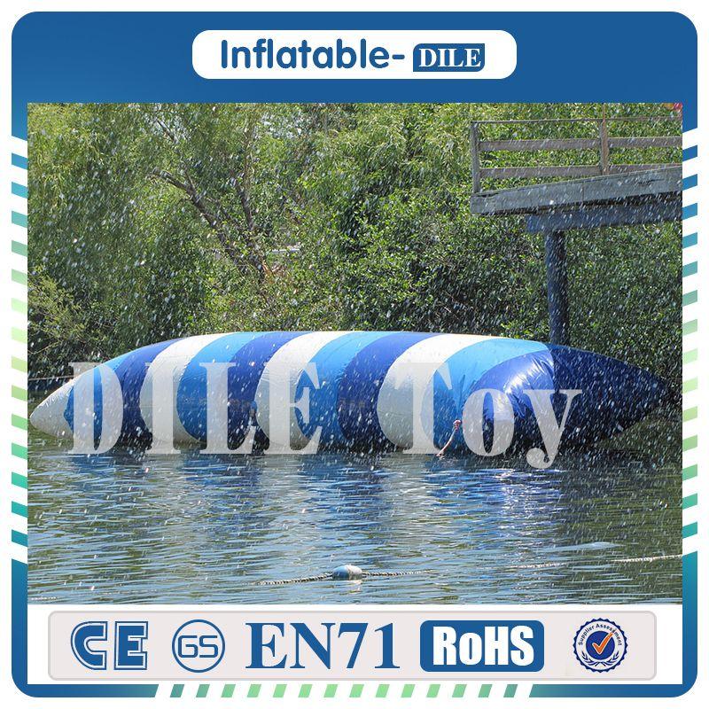 Envío gratis a la puerta 7 * 3 m salto de agua inflable catapulta inflable salto Blob inflable agua Blob rebotando bolsa almohada de agua