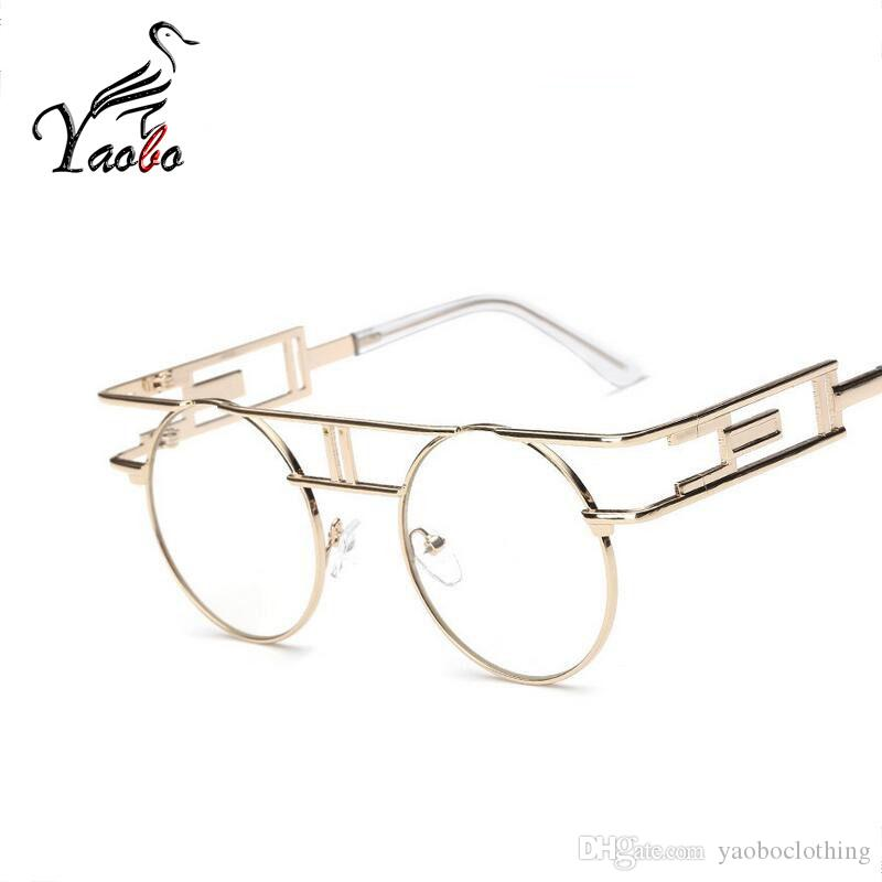 72a002def3 2019 Yaobo Vintage Women Steampunk Sunglasses Brand Design Round ...