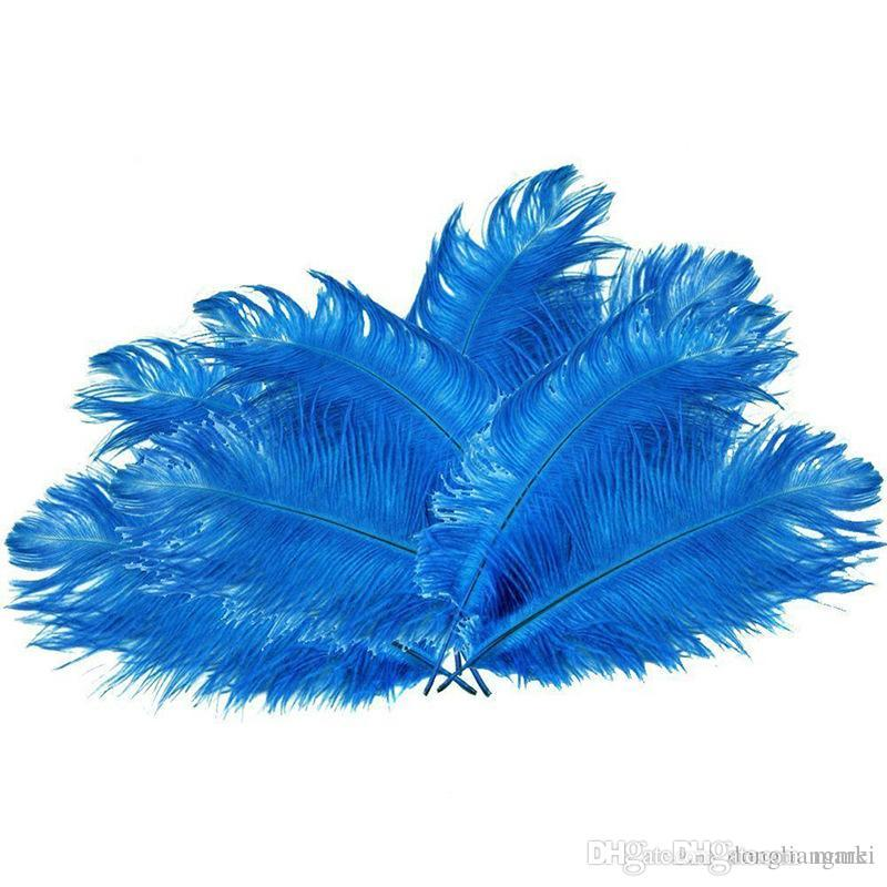 100pcs/lot 12-14inch 30-35cm teal blue Ostrich Feather Plumes dark turquoise for Wedding centerpiece christmas feather decoraction z134