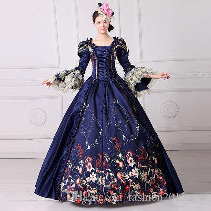 6d2c8238c7d1 Marie Antoinette Dress Civil War Southern Belle Gown 2017 Vintage Royal  Embroidery Women Lace Dress Reenactment Clothing FN201 Popular Halloween  Themes ...
