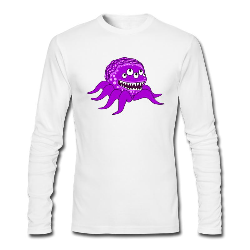 Unique autumn/winter new male casual t-shirt and long sleeve full cotton shirt men's funny monsters clip sweatshirts wholesale