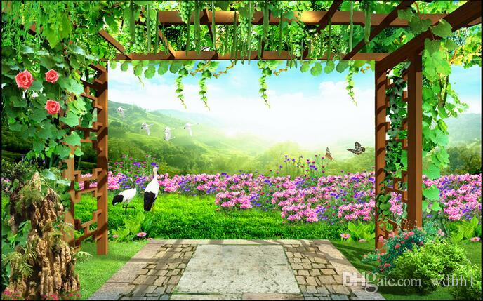3d wallpaper custom photo Non-woven mural Fresh grape garden scenery room decor painting picture 3d wall muals wall paper for walls 3 d