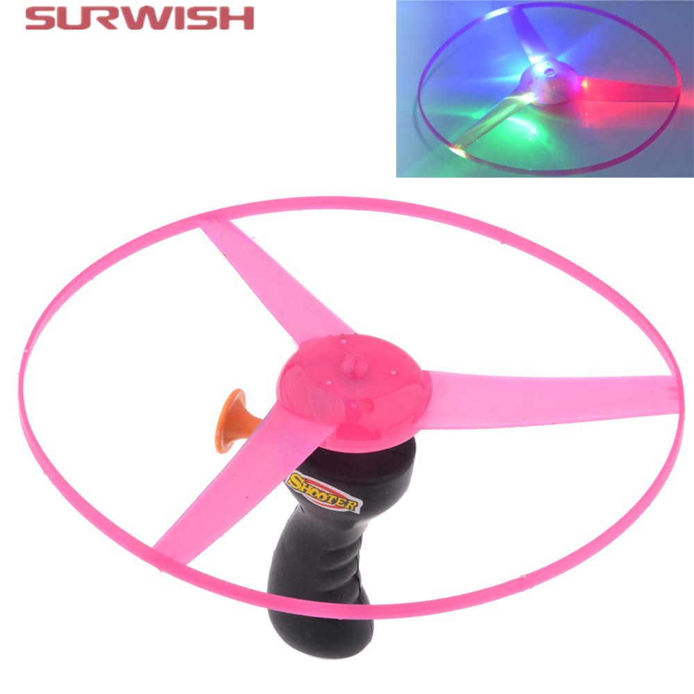 disc flying gift led interative electric up creative color light kids induction multi for luminous flashing product toy outdoor frisbee