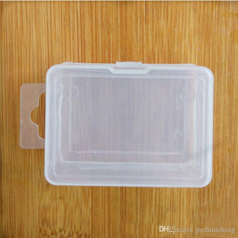 Transparent Plastic Storage Box For Coin Sample Container Jewelry Cosmetic Small Part Boxes ZA4000