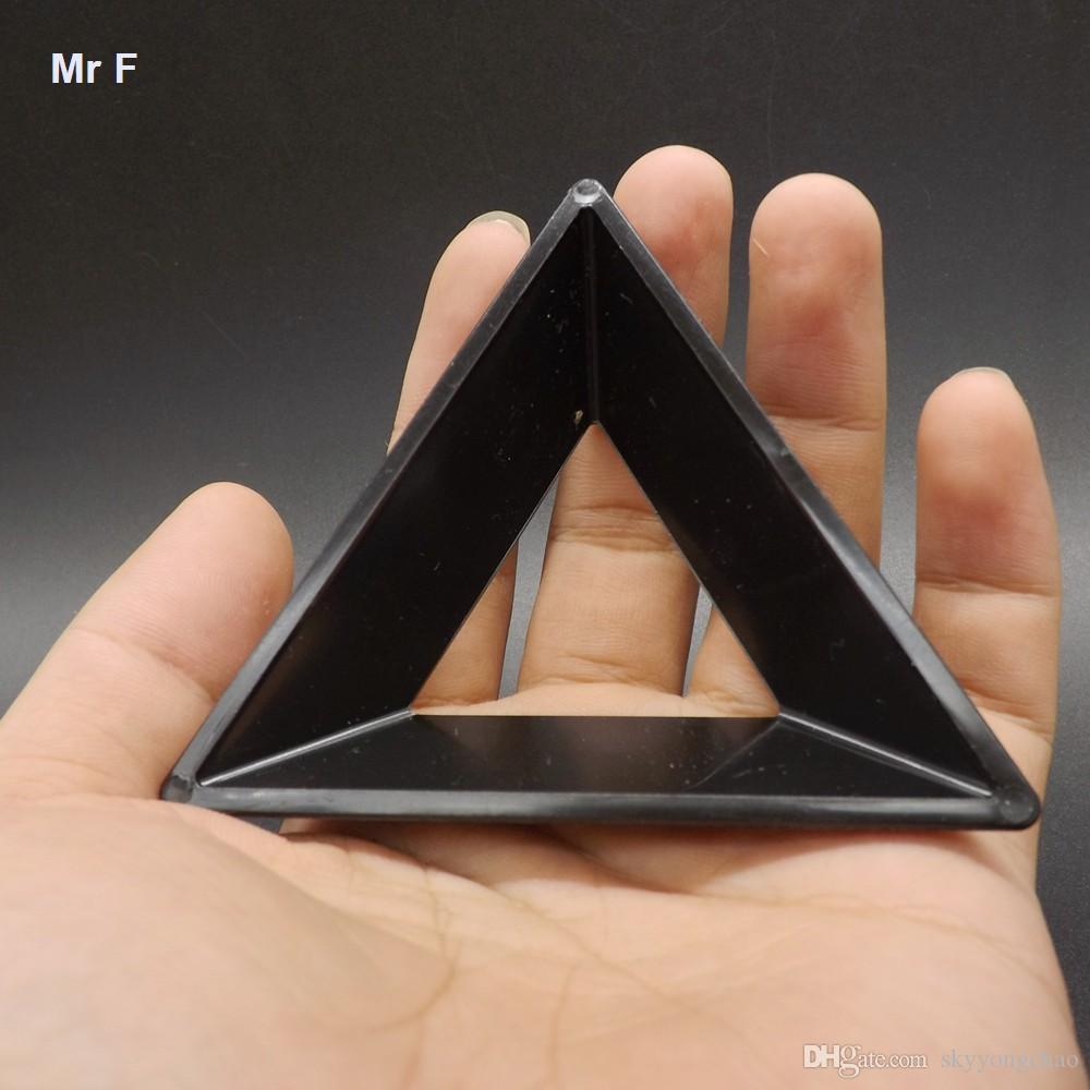 Fun Simple Black Plastic Triangle Magic Cube Holder Base Puzzle Cube ...