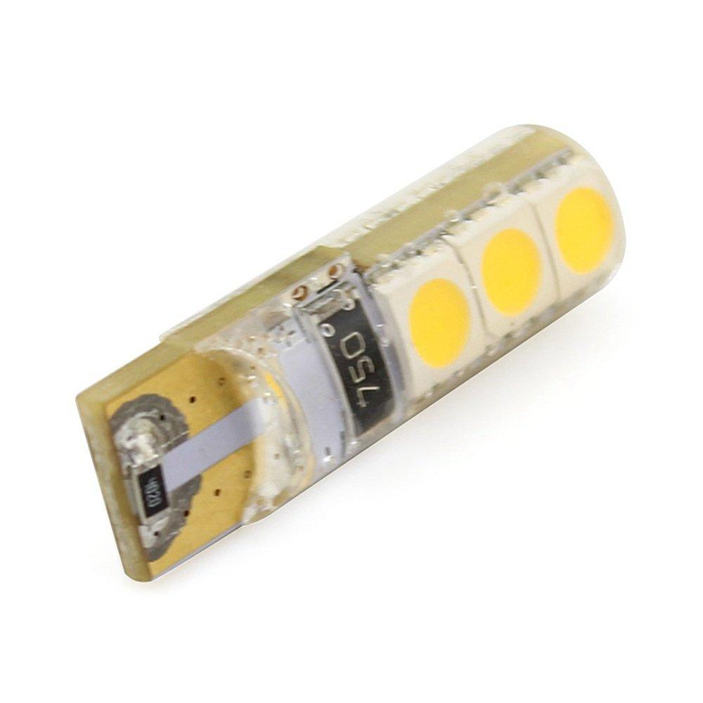 T10 5050 6 SMD CANBUS interior Lights 12v Crystal Silicone Version Thermal Anti Burn Super Bright Light Show Wide Lamp