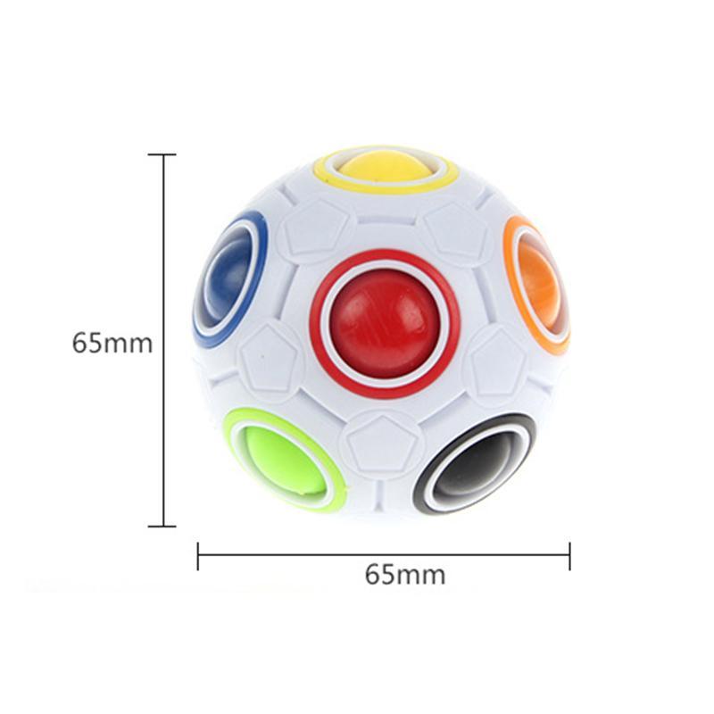 Magic Cube Toy Speed Rainbow Ball Football 3D Puzzle divertente giocattoli educativi creativi bambini regali adulti