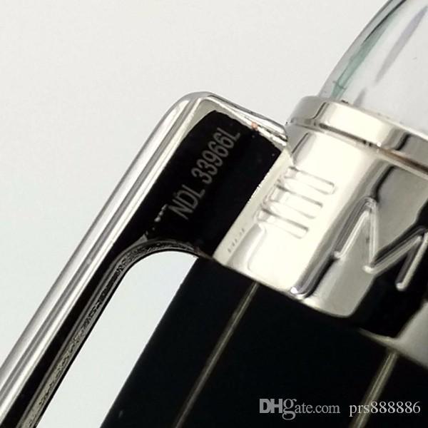 Lápiz de bolígrafo de lujo negro Mon bolígrafo negro en la pluma superior de la marca de regalo de papelería para escribir regalo