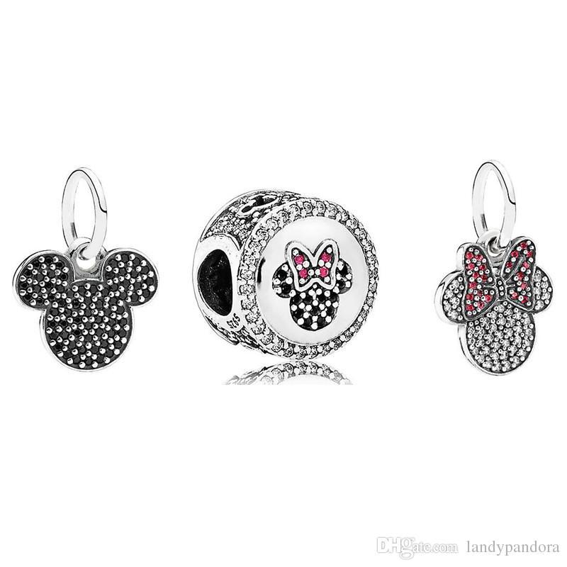 Bijoux de bricolage définit 925 Sterling Silver Loose Charm verre de Murano perle de Murano Convient Européenne Pandora Bracelet Colliers-Cadeaux De Noël 036