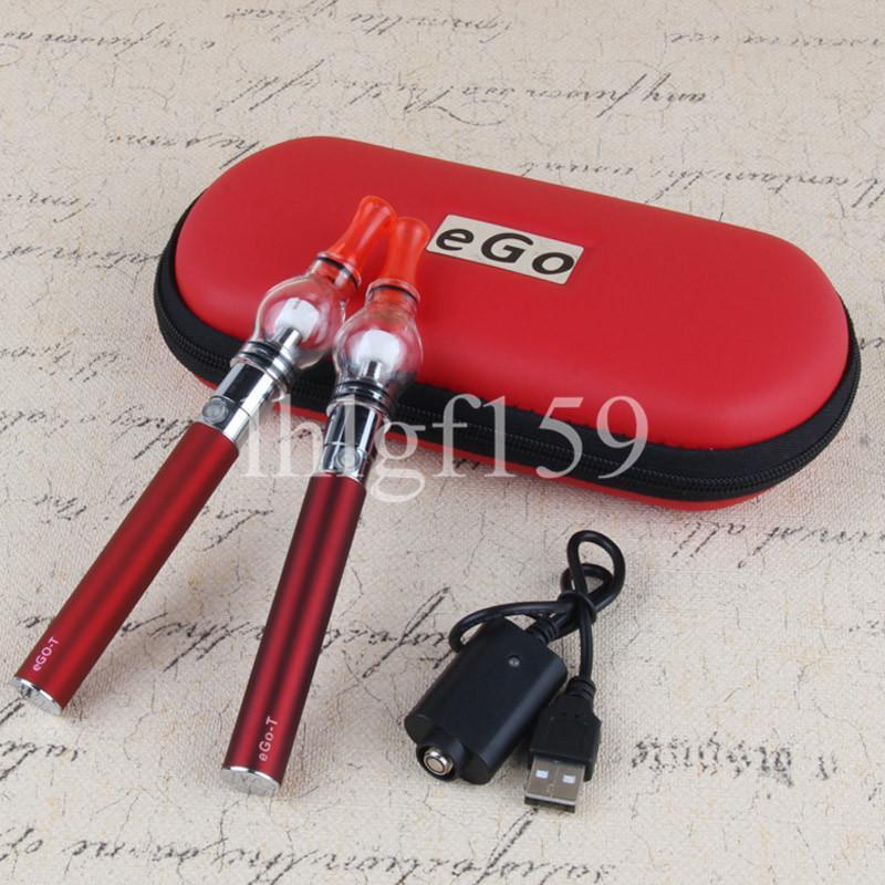 Doppelwachs Öldampferer Vapes Kit Stift Diskrete Glaskugel DAB-Stifte Wachsöle Kompakt Ego T Battery Vape Starter Kits