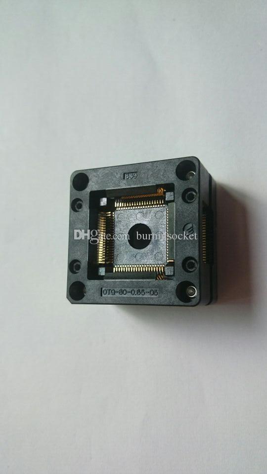 ENPLAS QFP80PIN IC TEST SOCKET OTQ-80-0 65-05 0 65MM PITCH BURN IN SOCKET