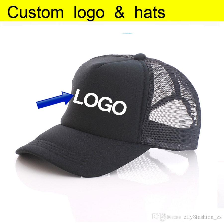 Free DLY Printing Single Color LOGO Full Black Trucker Caps Summer Sun Hats  Baseball Hat Mesh Hat Free Logo Printing Neweracap Cap Hat From  Elly8fashion zs a1f1293eb77