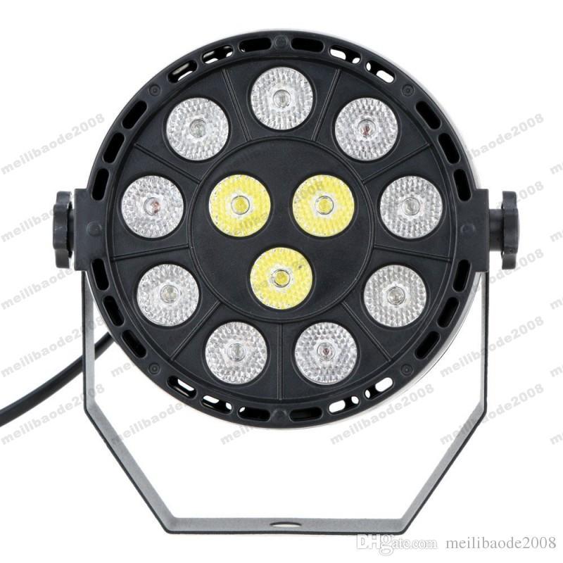 12W 12 LED Flat Par Stage Light RGB Lamp Club DJ Party DMX512 Control Lighting MYY