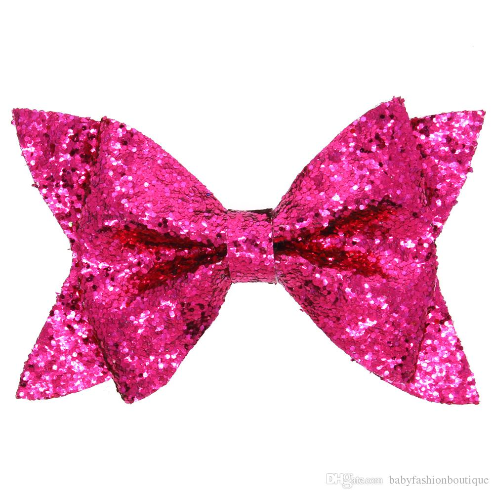 2017 Baby Sequin Bow Barrettes Sparkling Paillette Bowknots Kids Hair Clips Girls Multicolor Hair Fashion Accessories