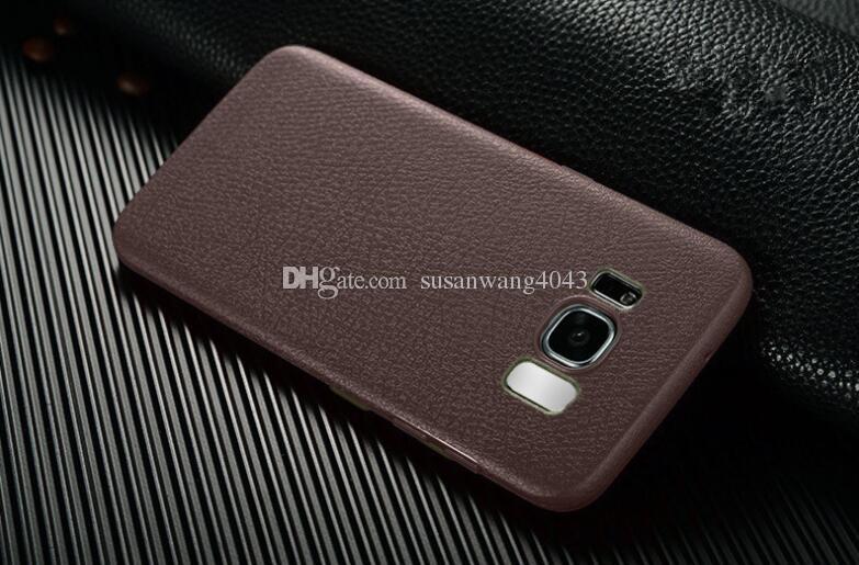 Nueva cubierta protectora del teléfono de TPU para iphone7 iphone 8 7 6 6s plus iphone X S8 Plus Funda ultrafina de cuero TPU funda de carcasa suave GSZ283