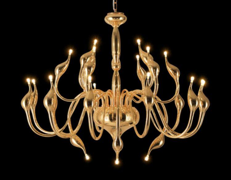 Discount 6/9/12/15/18/24 Lights Gold Modern Big Chandelier Led Swan Chandeliers Ceiling L&s Bedroom Living Room Modern Decoration Lighting Small Pendant ... & Discount 6/9/12/15/18/24 Lights Gold Modern Big Chandelier Led ... azcodes.com