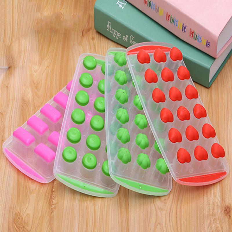 Fruit Designs Ice Cream Tools Silicone Ice Mould Creative Safety Envirement Ice Mould Kitchen Gadgets Free DHL