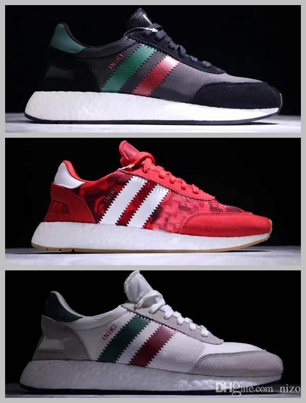 2017 Bapes X Iniki Runner Boost Sneakers Fashion Men Green Red Blue Grey High Quality Custom Shoes Sport Size 40 44 Neutral Running Winter