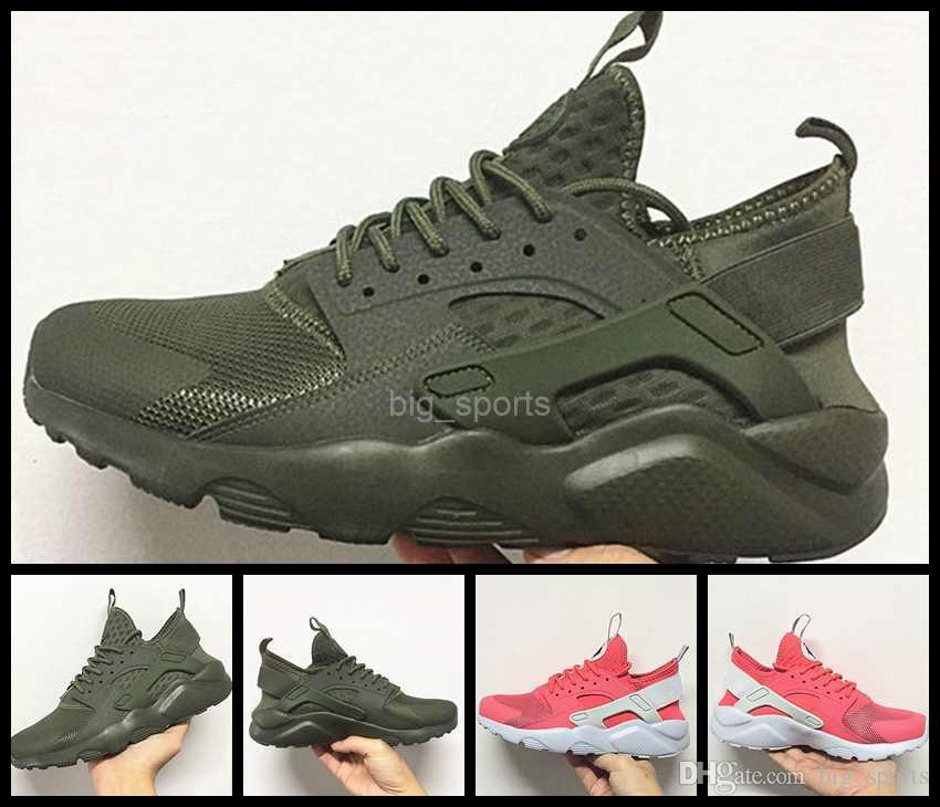 pick up 00f85 f690d 2017 Air Huarache IV Running Shoes For Men Women,Green Pink Sneakers Triple  Huaraches designer Trainers Mens Womens huraches Sport Shoe