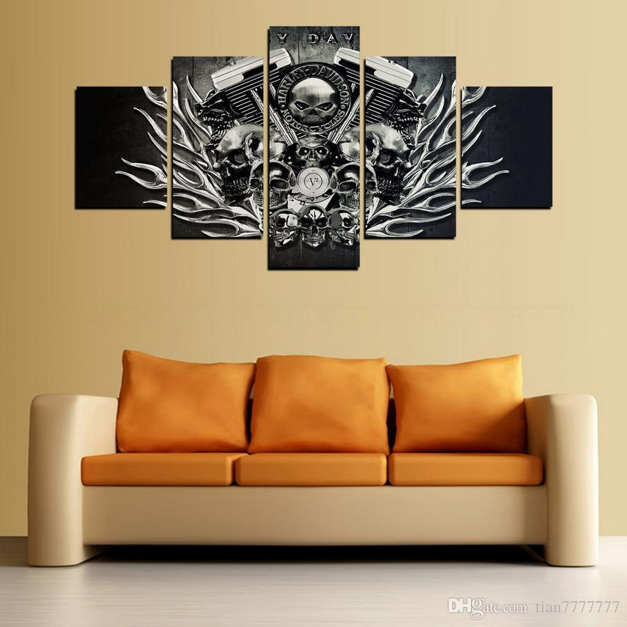 New Metal Skull Canvas Painting No Frame Print Poster Pictures For ...