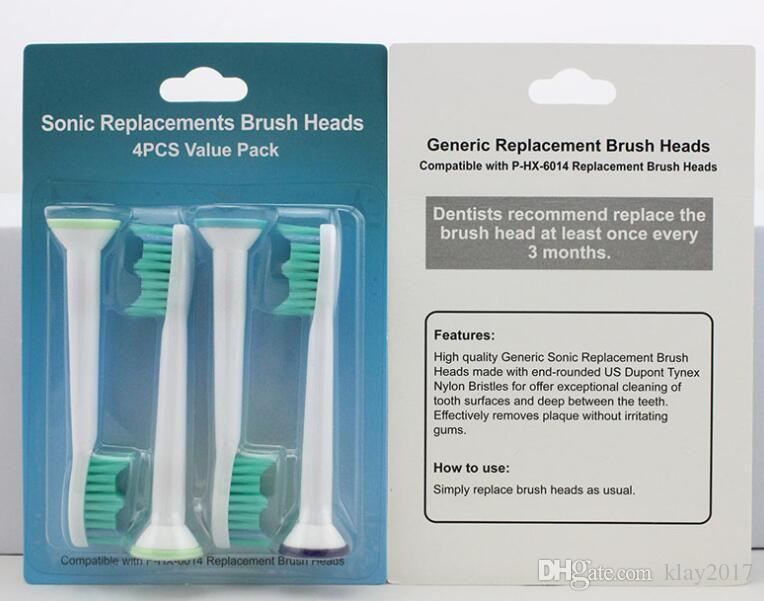 Electric toothbrush heads Compatible HX6014 HX6013 Brush Heads for Philips Sonicare Replacement heads