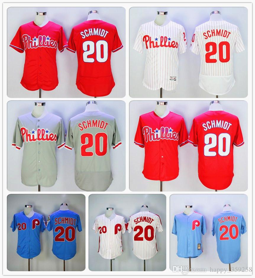 72facc4ae ... sale latest philadelphia phillies elitegames style jersey 20 mike  schmidt baseball jerseys graywhitered fd20a e6b89