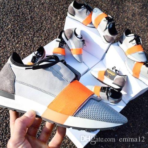 2017 scarpe da corsa runner di alta qualità scarpe casual da donna moda uomo colorato patchwork maglia colori misti scarpe da ginnastica con scatola formato 46