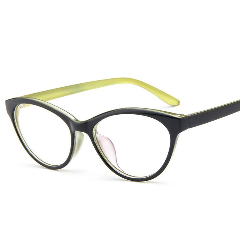 2018 Wholesale European And American Frames Pc Cat Eye Prescription ...