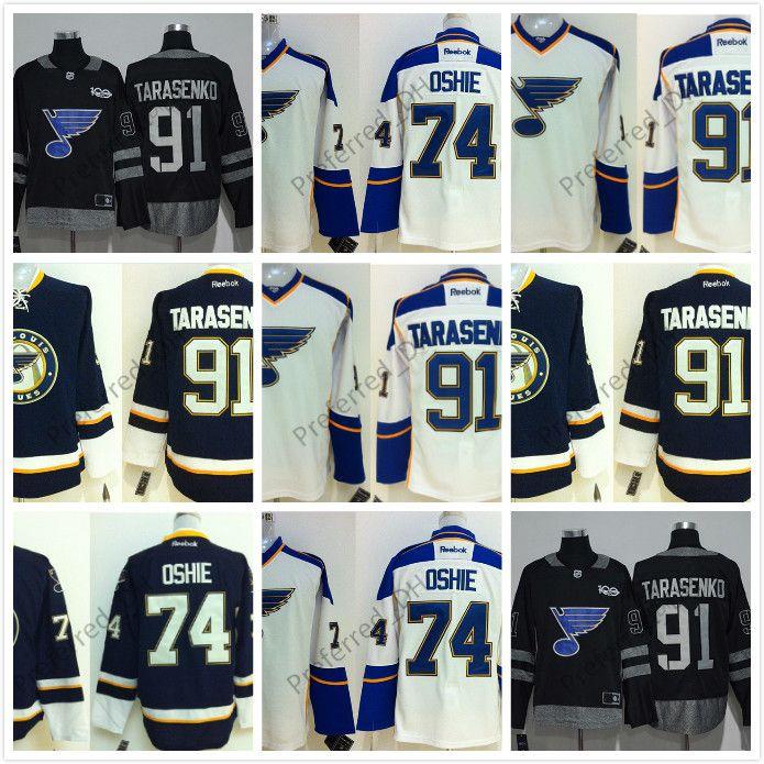 timeless design b1abd 75ebd Custom Cheap Jerseys St.Louis Blues Authentic Personalized Cool Base Jersey  91 Tarasenko 74 Oshie 17 Schwartz 42 Backes Blank Jerseys