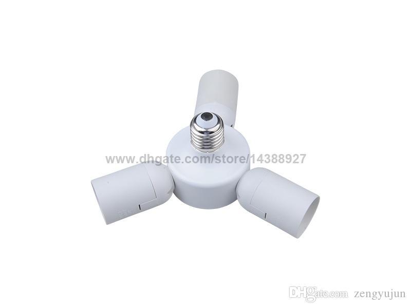 Convertitore adattatore portalampada E27 a 3 E27 3 in 1 splitter E27 E27-3E27 prolunga a led White Retardant PBT